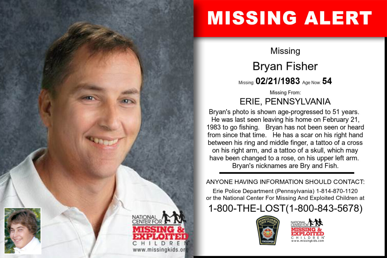 BRYAN_FISHER missing in Pennsylvania