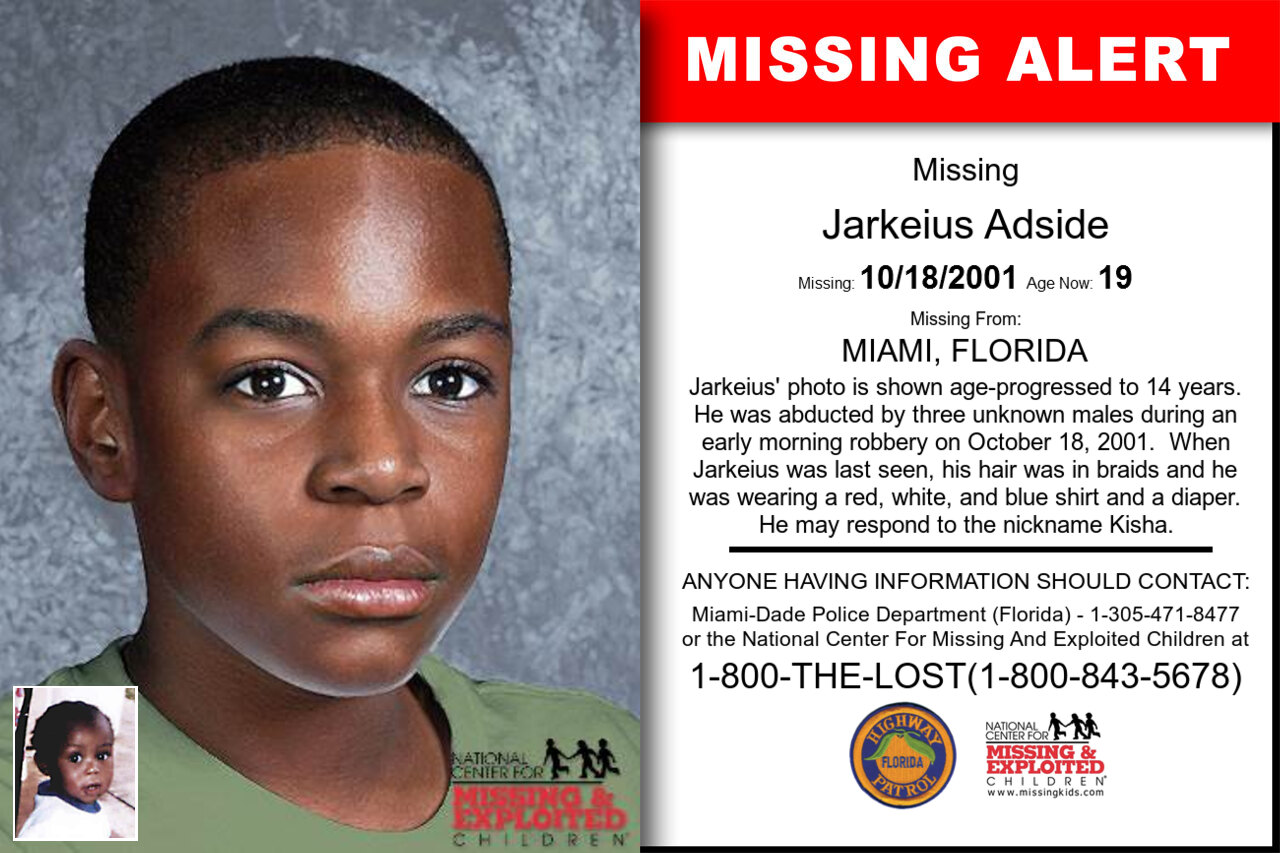 JARKEIUS_ADSIDE missing in Florida