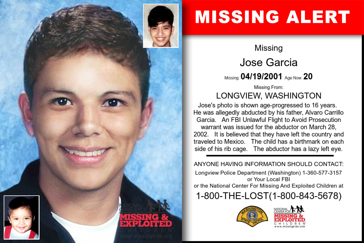 JOSE_GARCIA missing in Washington