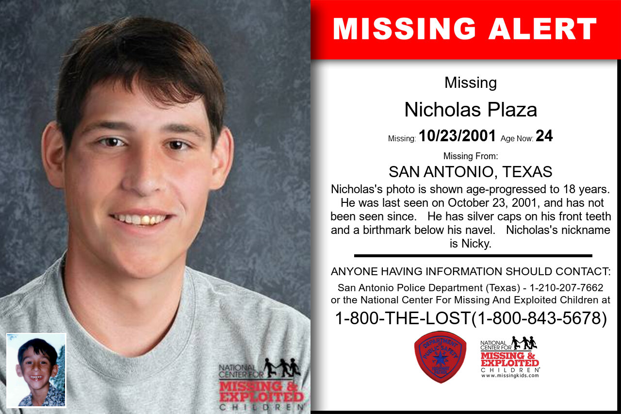 Nicholas_Plaza missing in Texas
