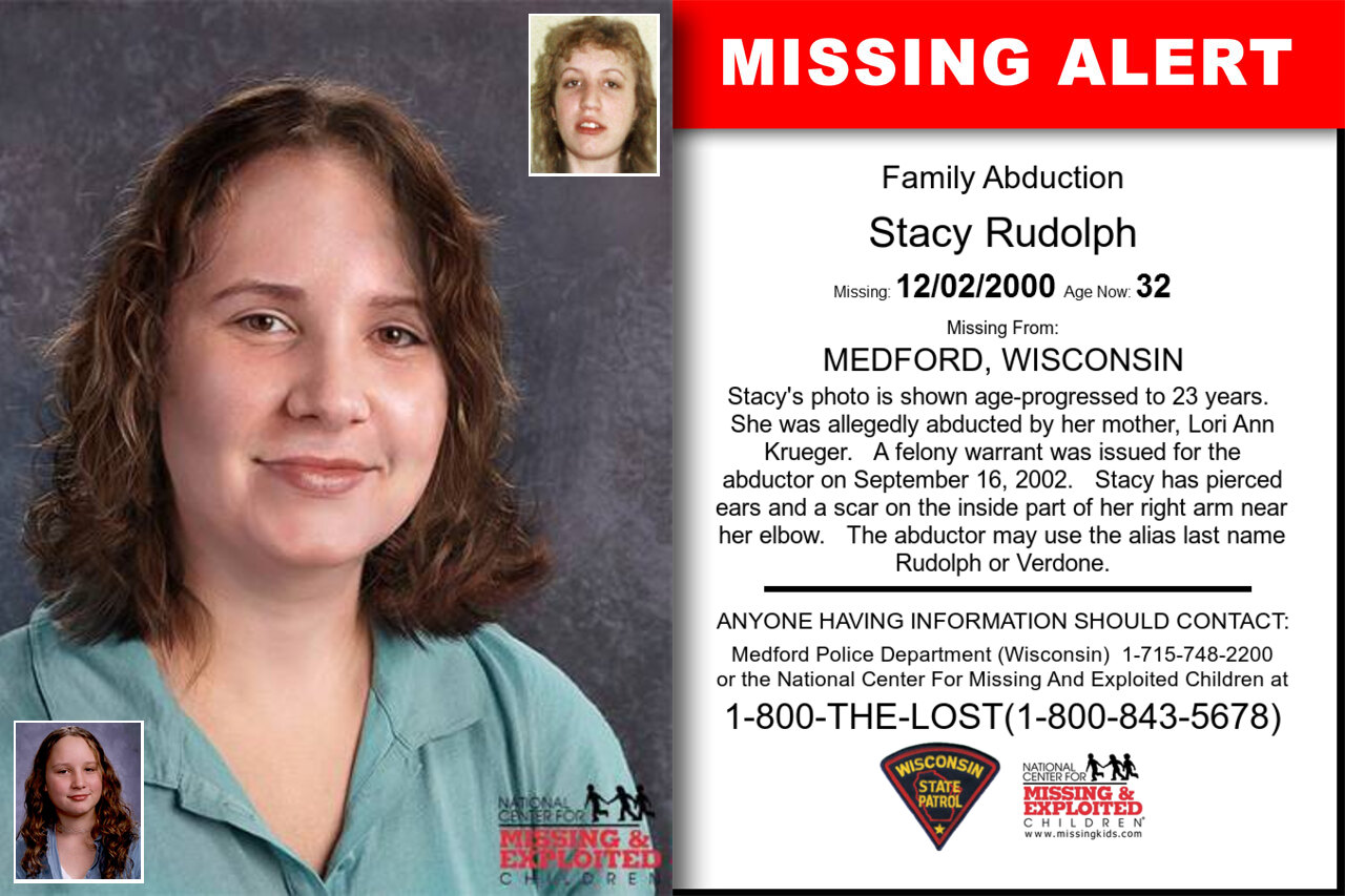 Stacy_Rudolph missing in Wisconsin