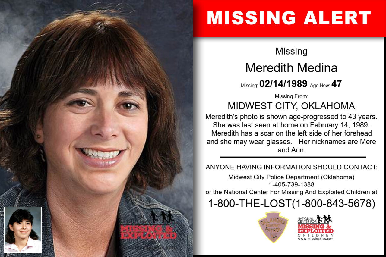 MEREDITH_MEDINA missing in Oklahoma