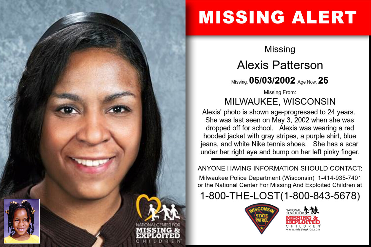 ALEXIS_PATTERSON missing in Wisconsin