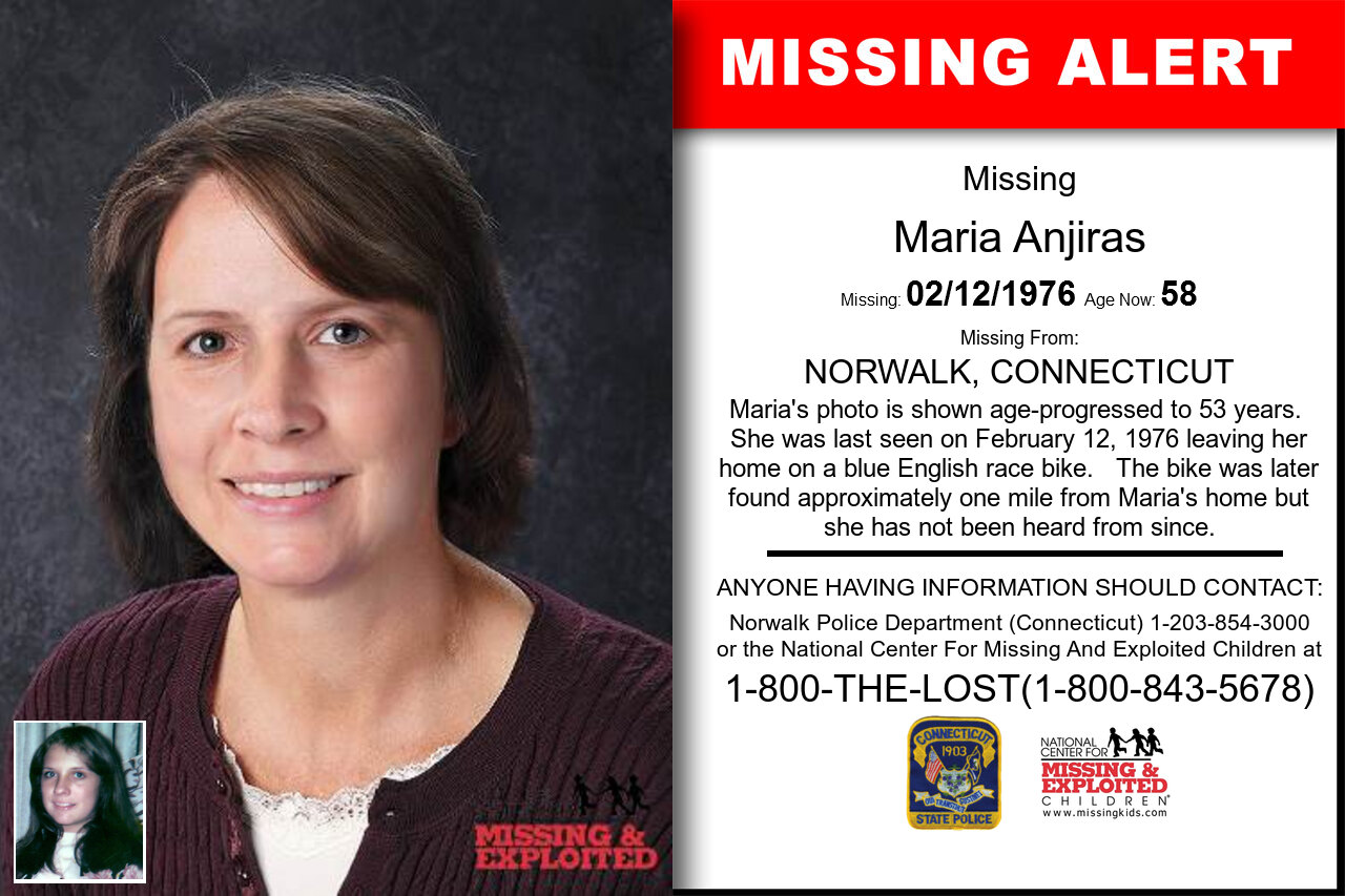 MARIA_ANJIRAS missing in Connecticut