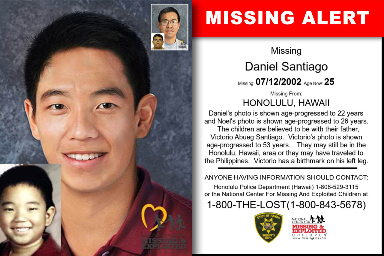 DANIEL_SANTIAGO missing in Hawaii