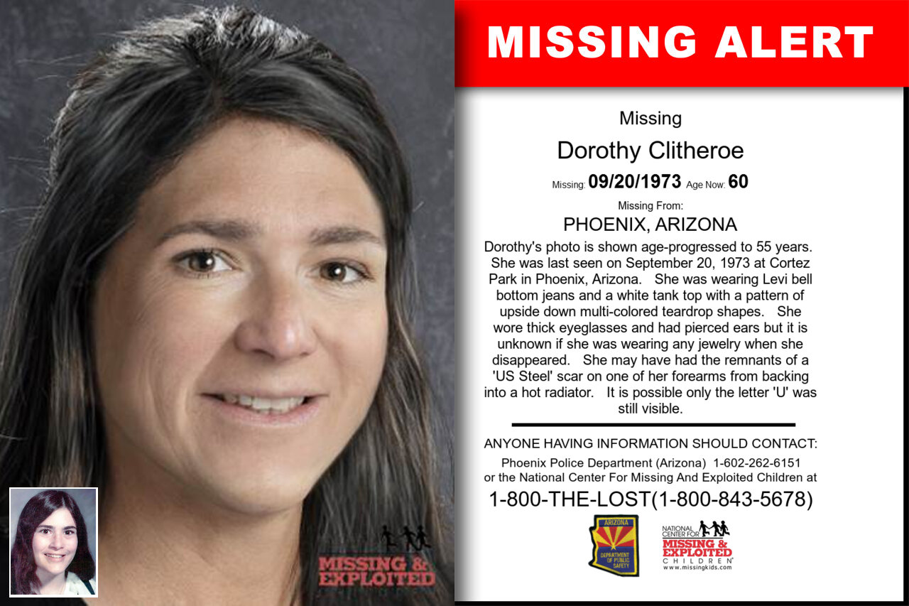Dorothy_Clitheroe missing in Arizona