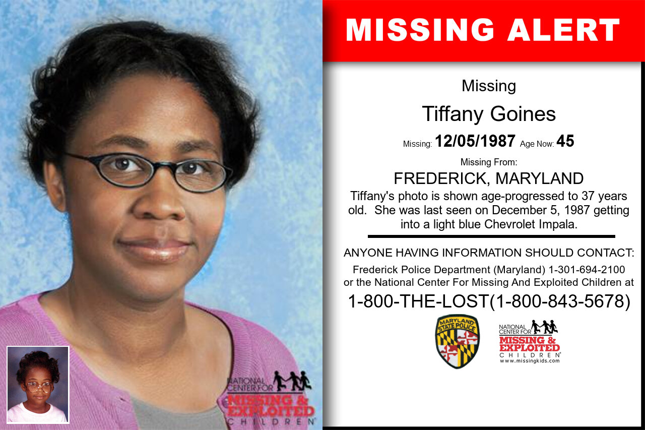 TIFFANY_GOINES missing in Maryland