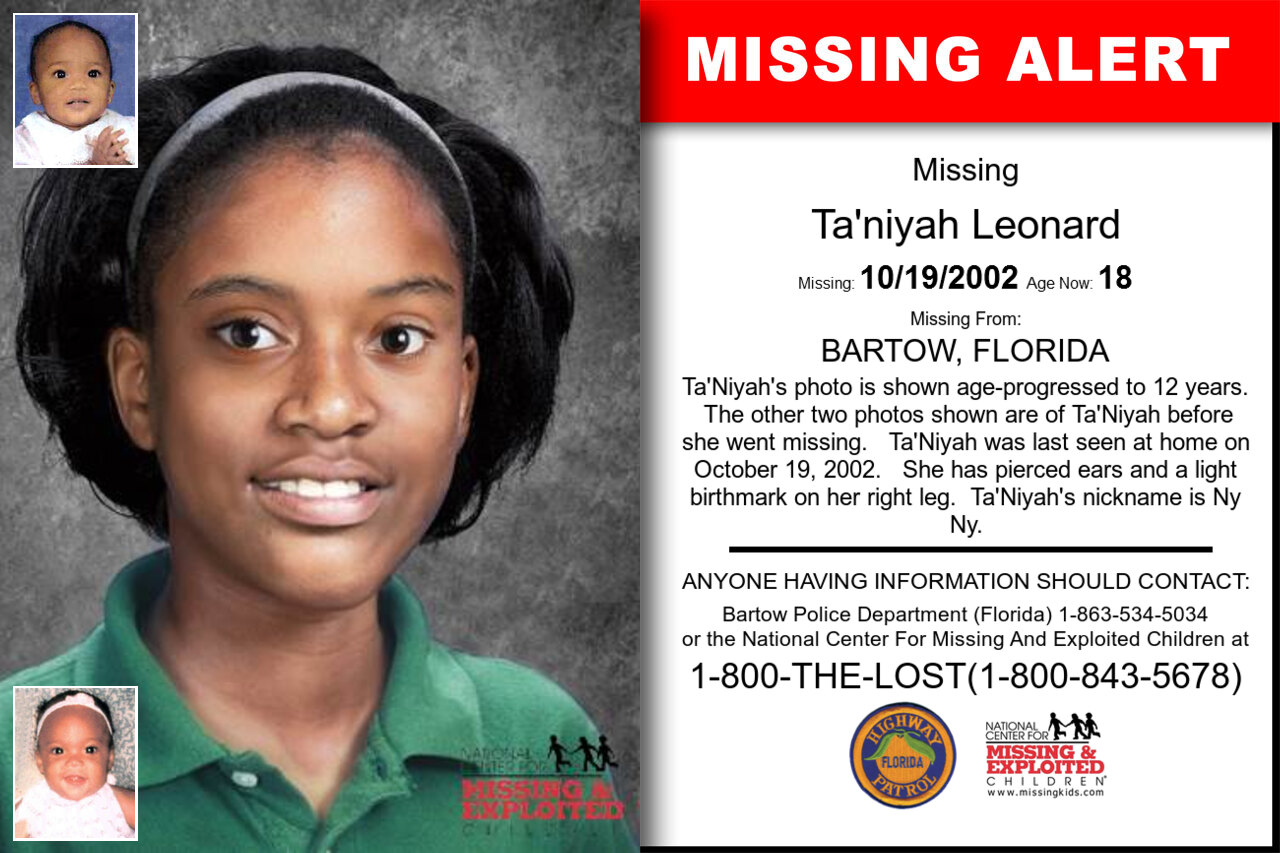 TA'NIYAH_LEONARD missing in Florida