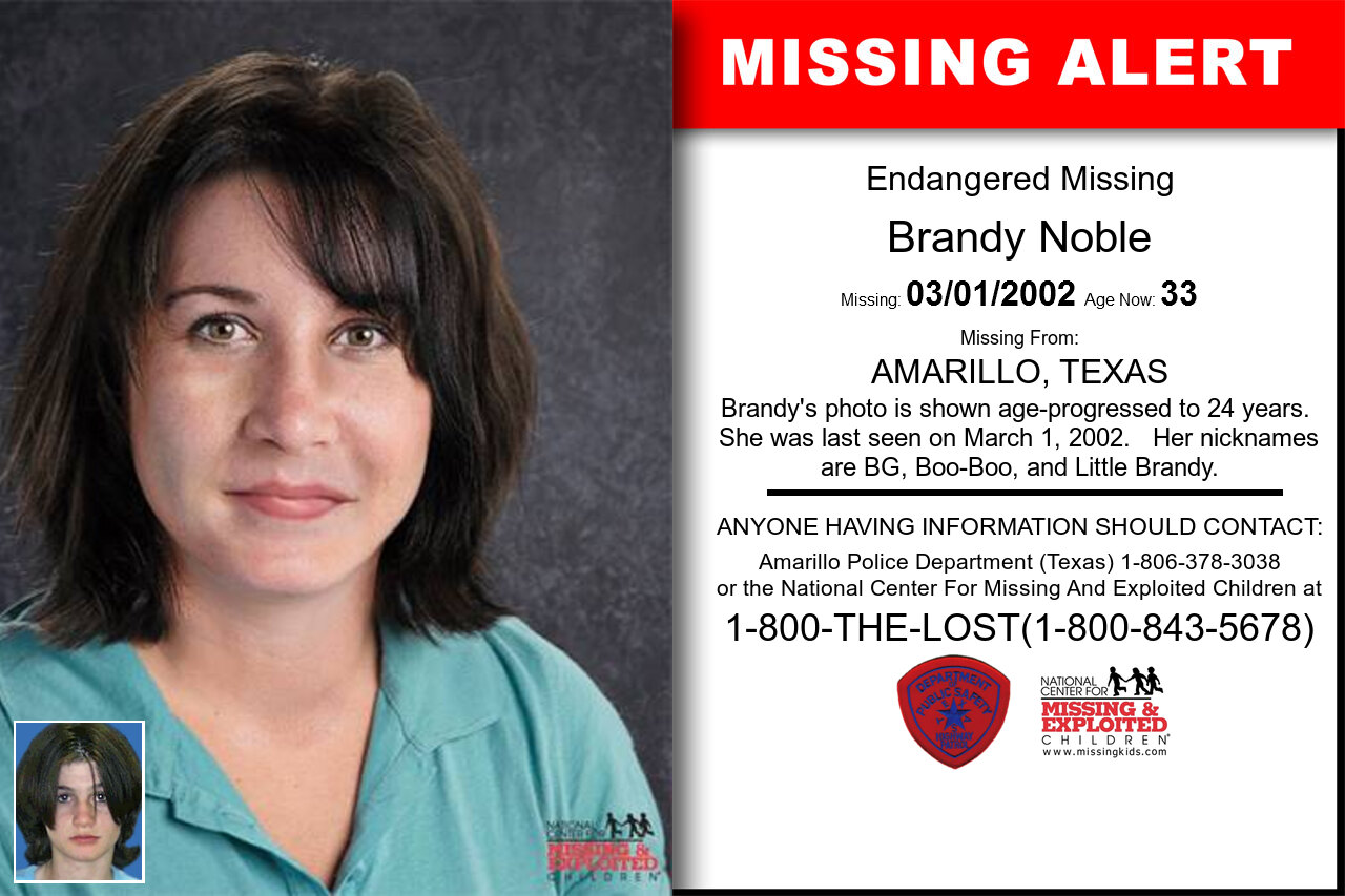 BRANDY_NOBLE missing in Texas
