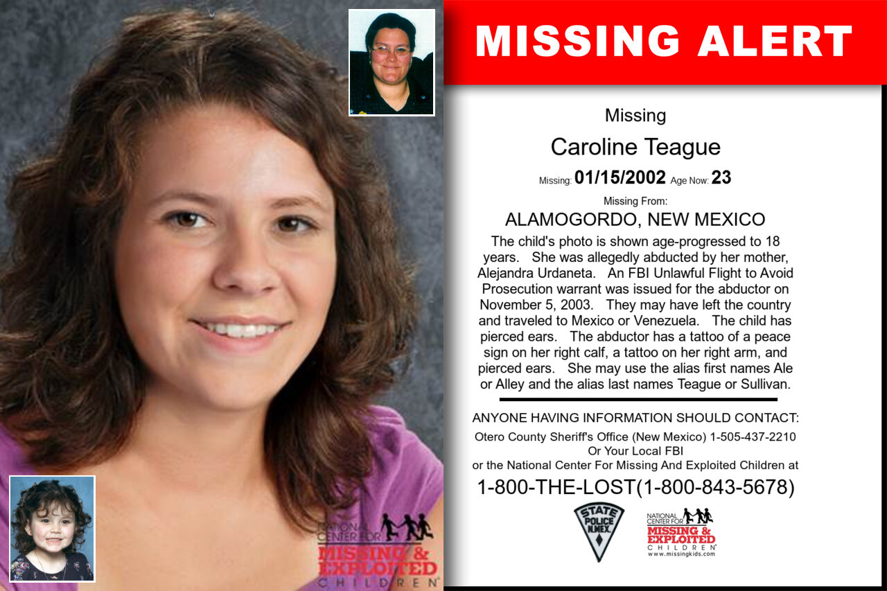 Caroline_Teague missing in New_Mexico