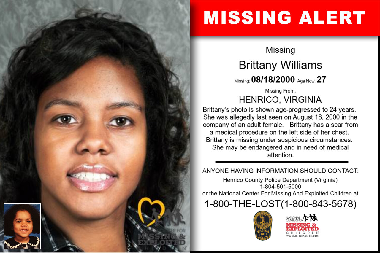 Brittany_Williams missing in Virginia