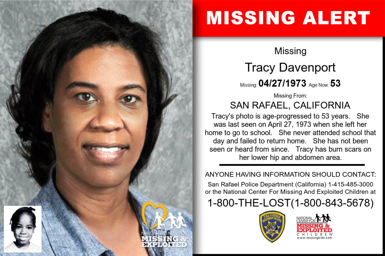 TRACY_DAVENPORT missing in California
