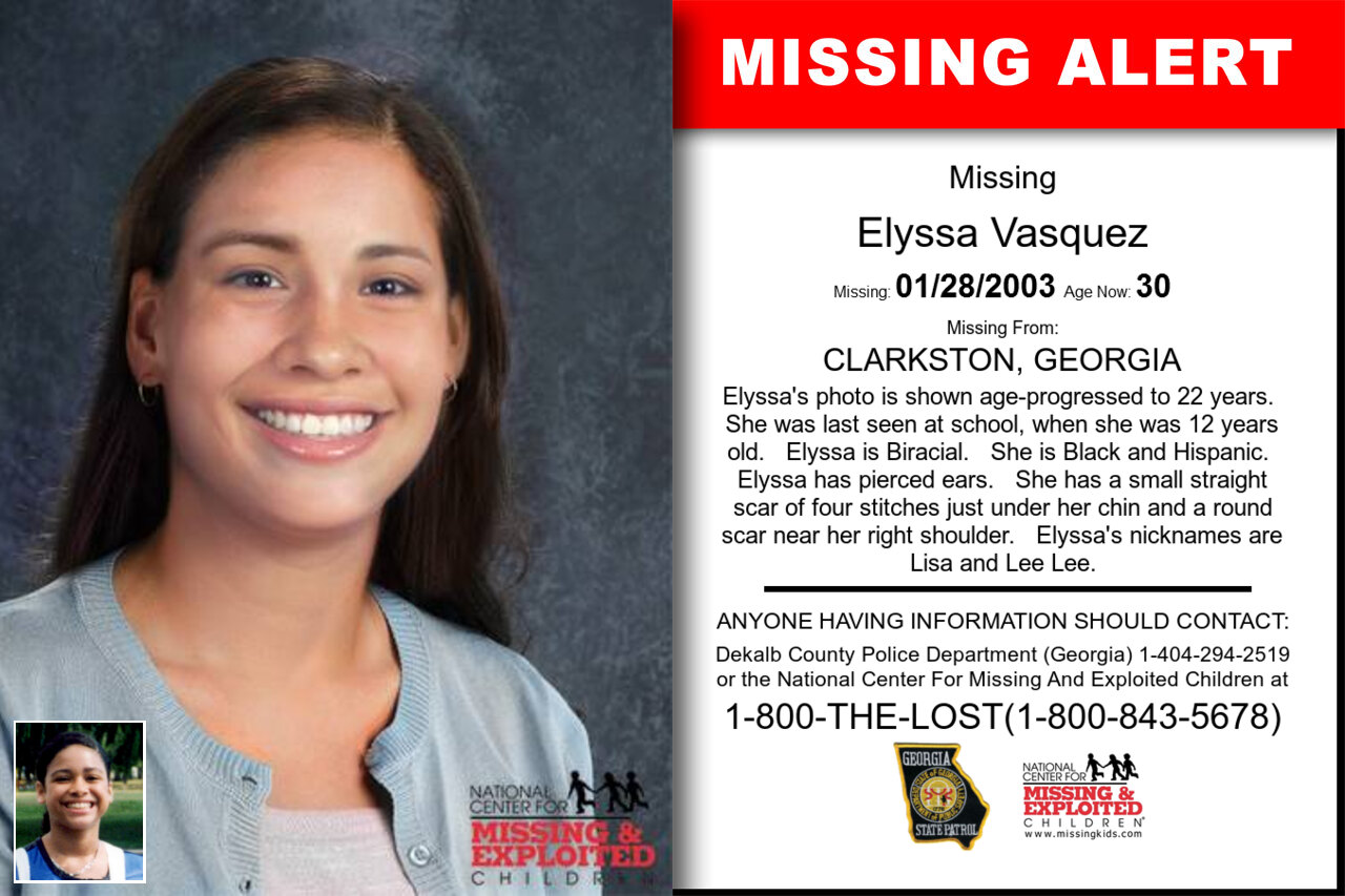 ELYSSA_VASQUEZ missing in Georgia