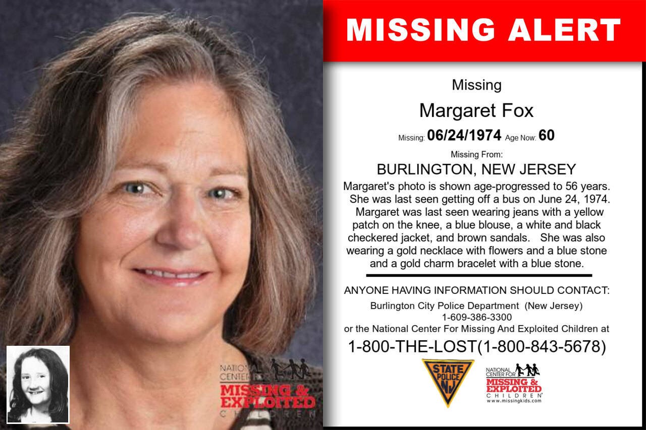 Margaret_Fox missing in New_Jersey