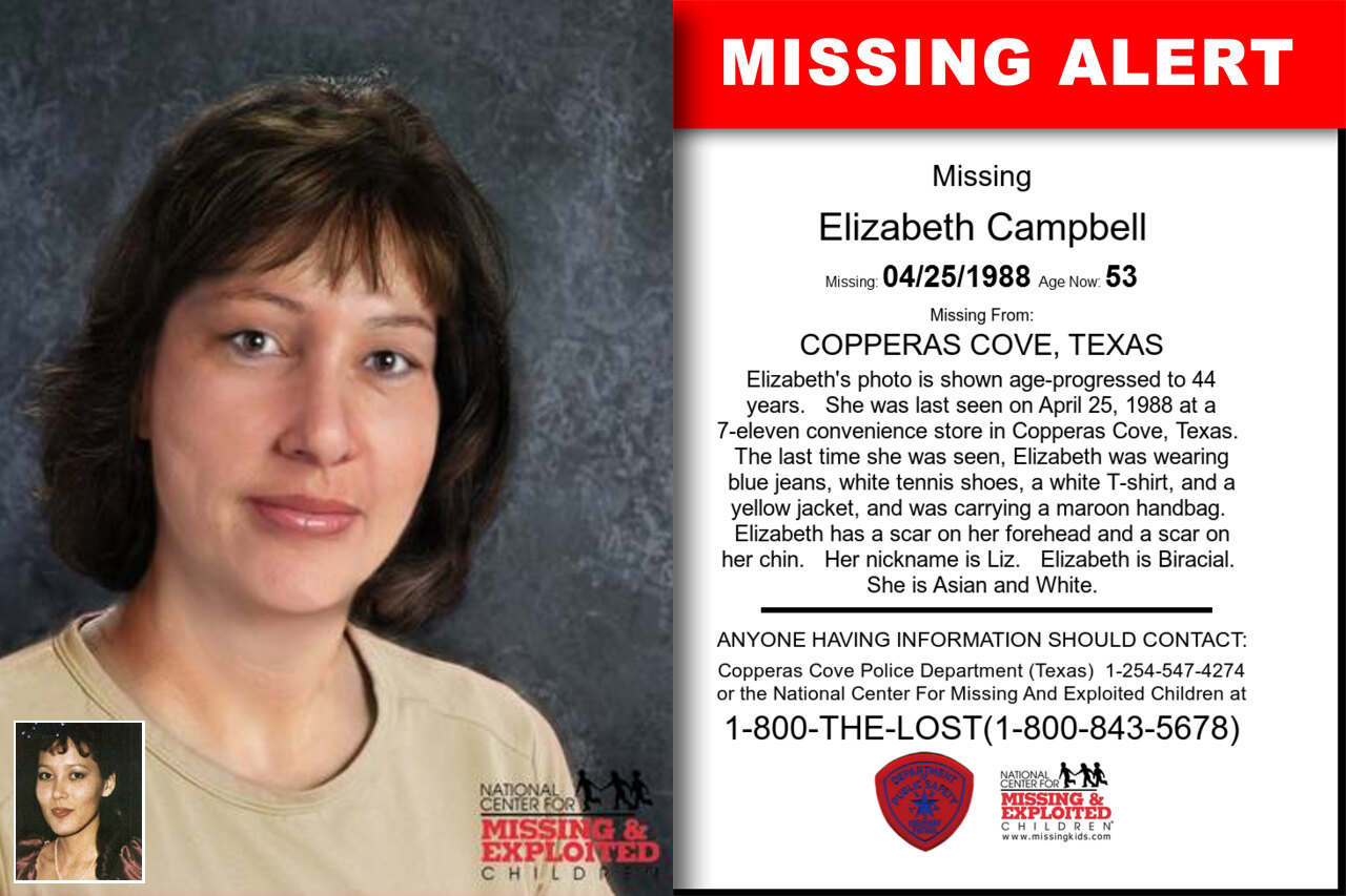 ELIZABETH_CAMPBELL missing in Texas