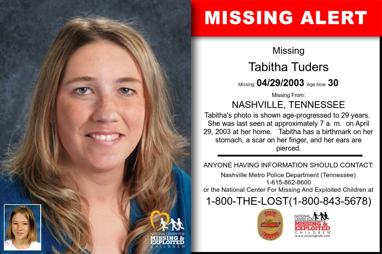 TABITHA_TUDERS missing in Tennessee