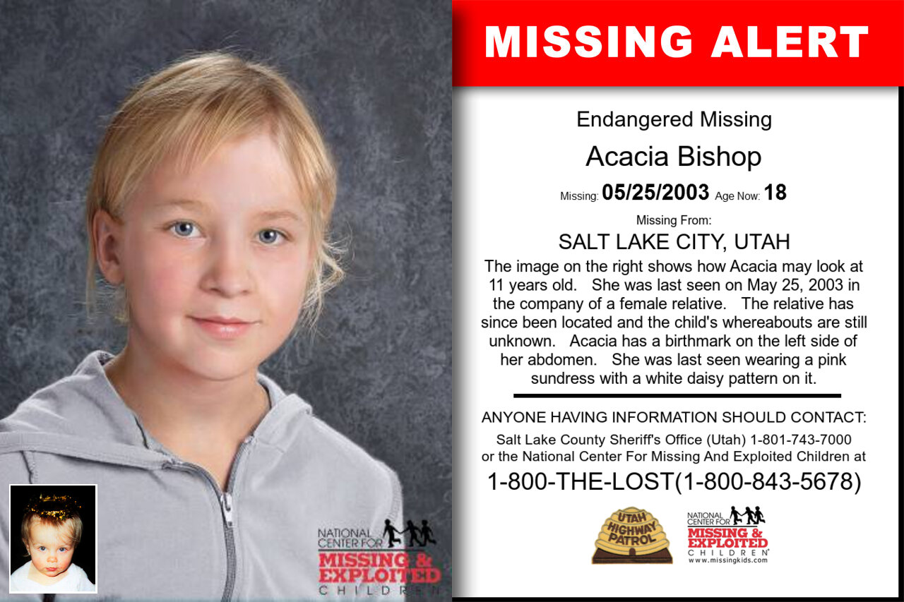 Acacia_Bishop missing in Utah