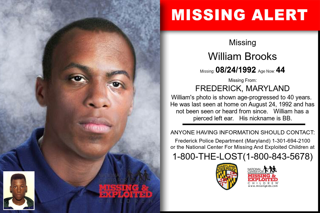 WILLIAM_BROOKS missing in Maryland