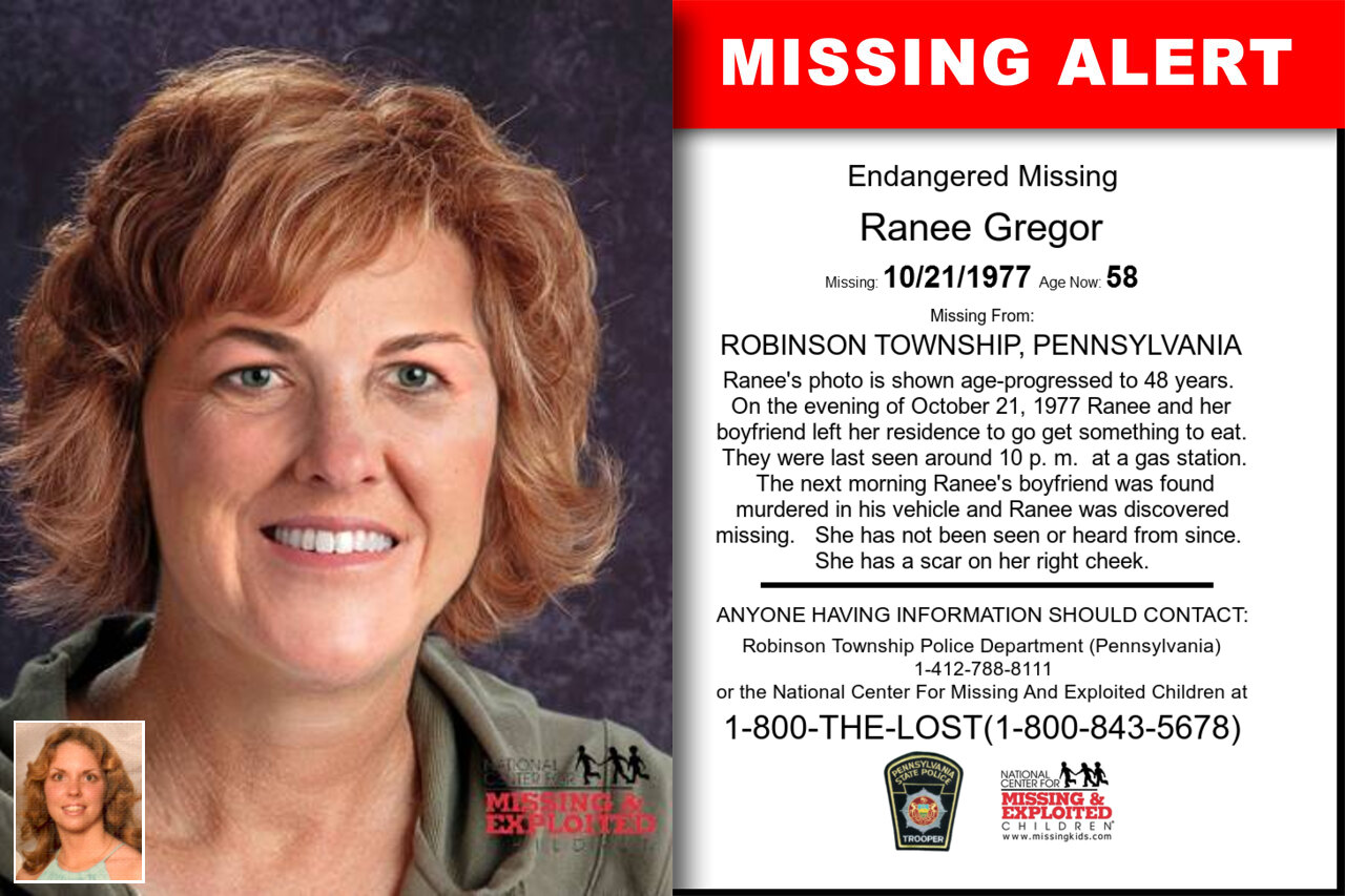Ranee_Gregor missing in Pennsylvania