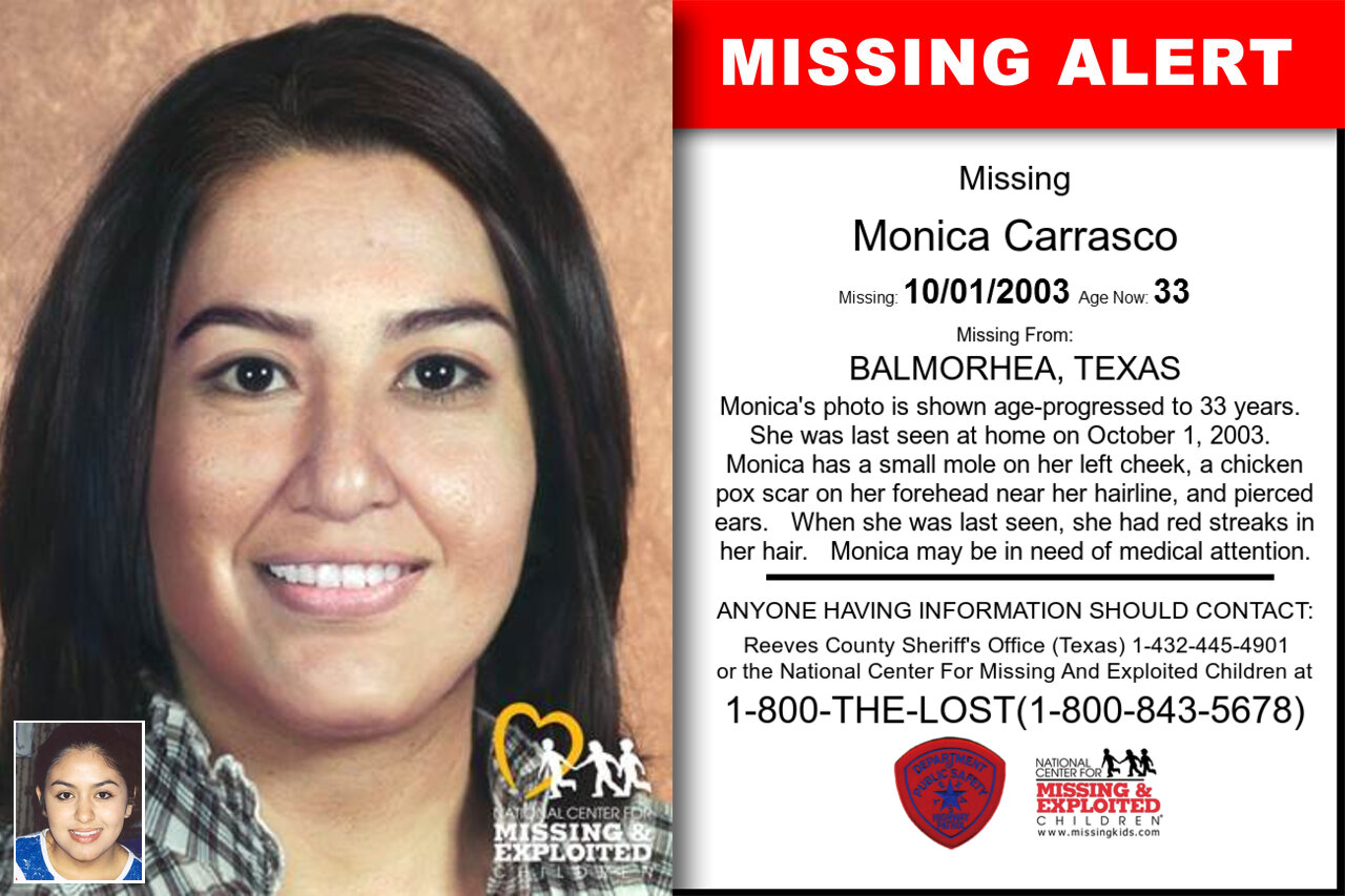 MONICA_CARRASCO missing in Texas