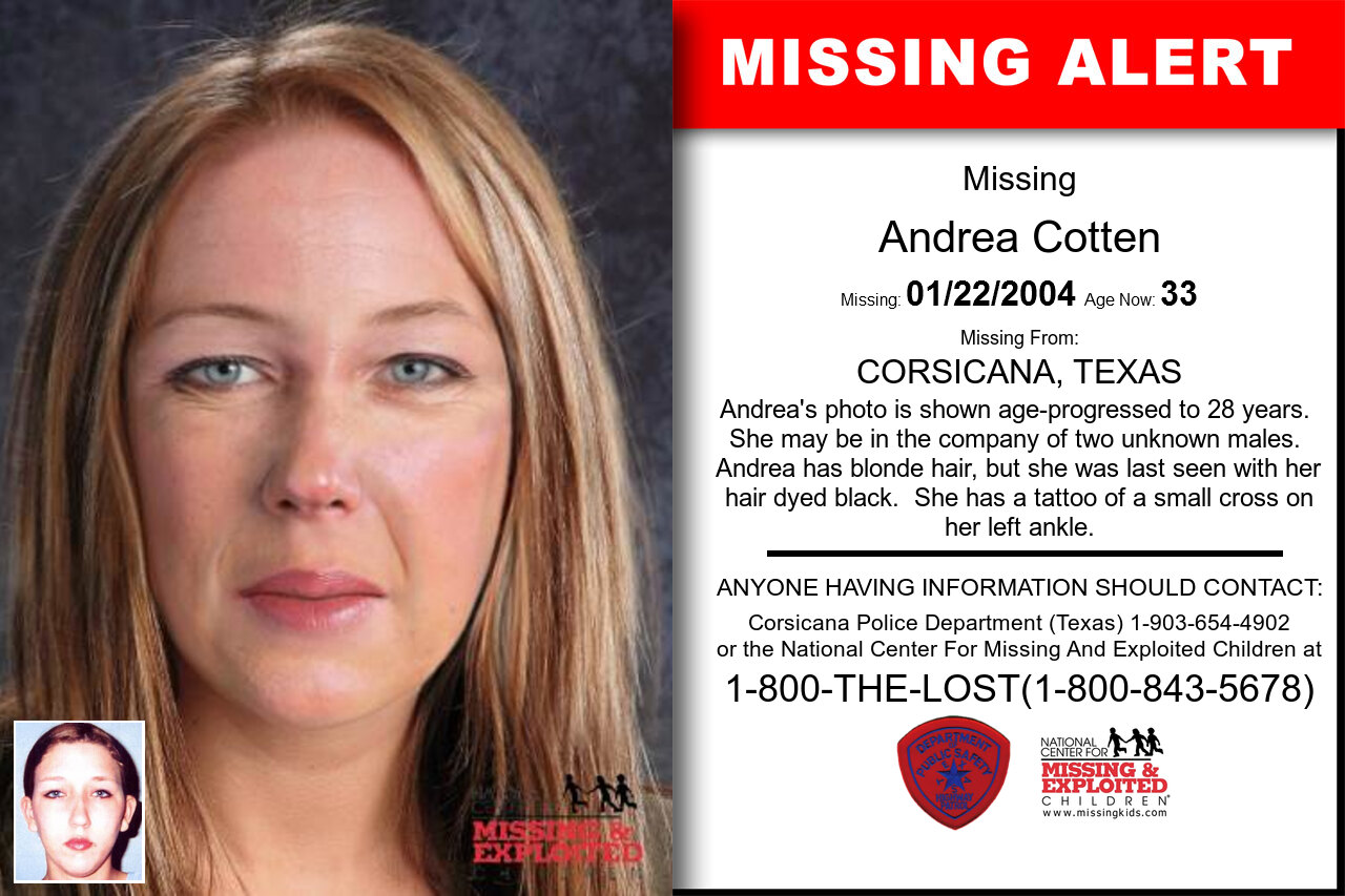 Andrea_Cotten missing in Texas