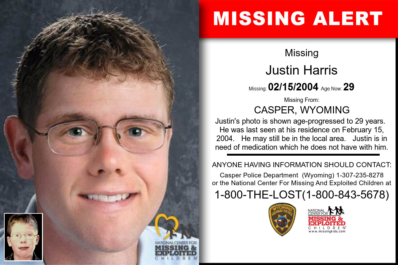 JUSTIN_HARRIS missing in Wyoming