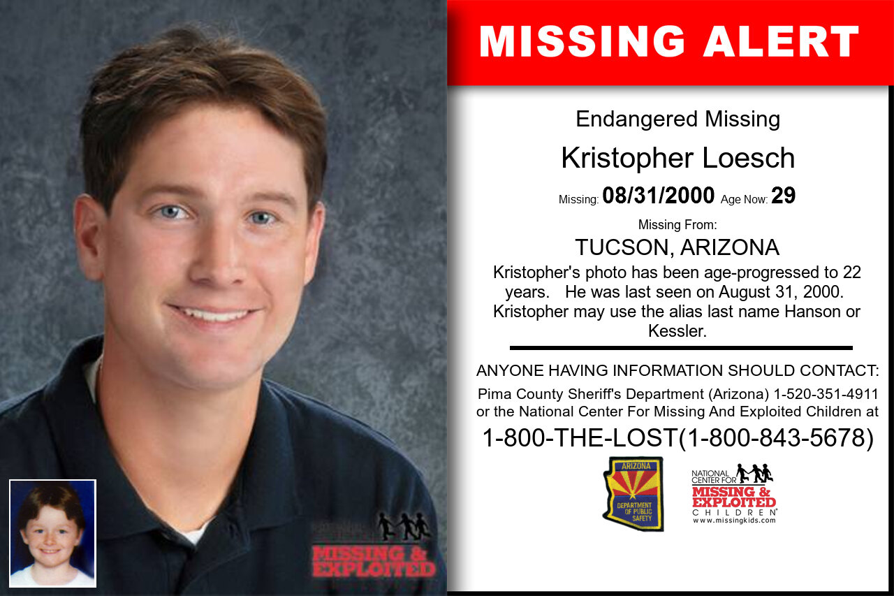 KRISTOPHER_LOESCH missing in Arizona