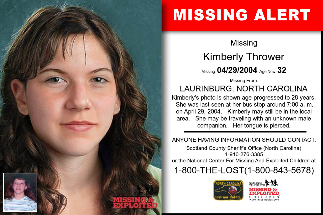 KIMBERLY_THROWER missing in North_Carolina