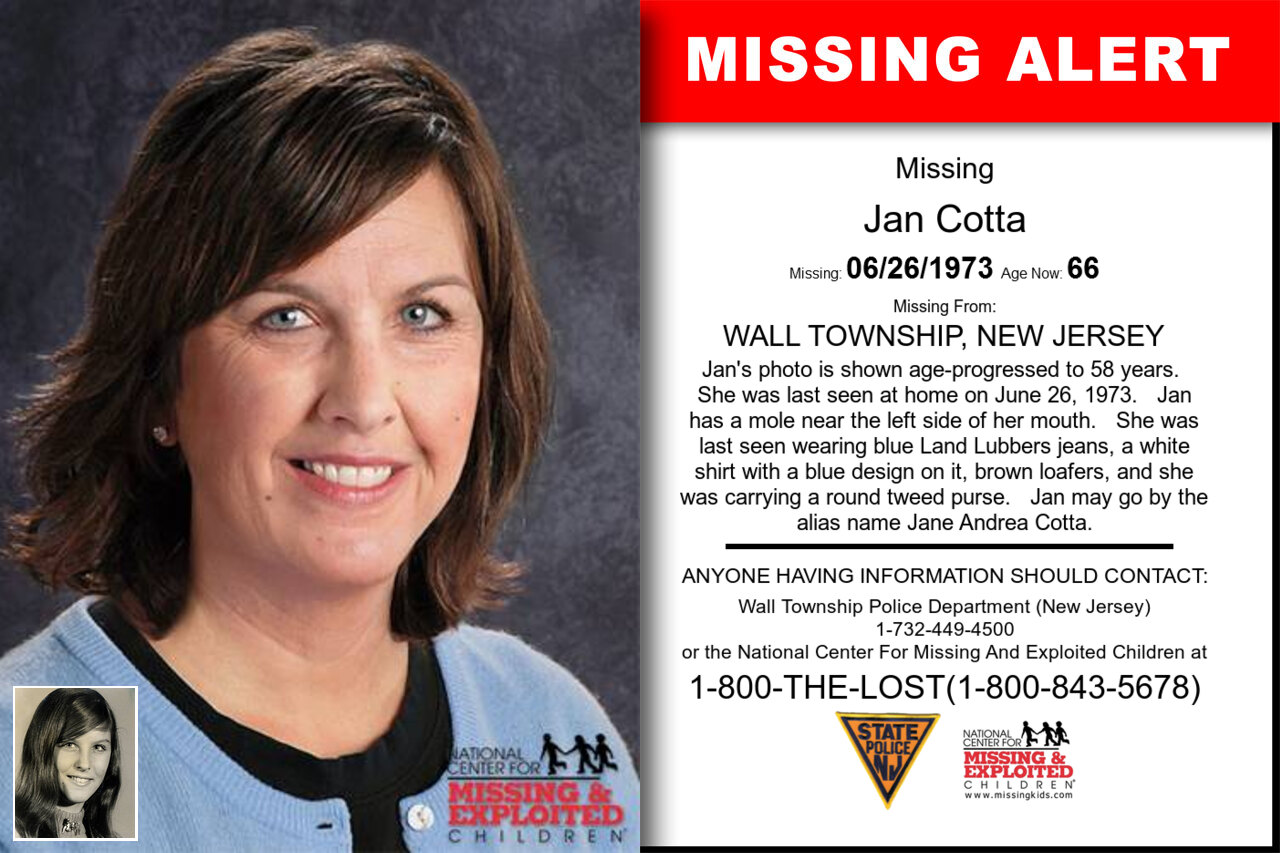 Jan_Cotta missing in New_Jersey