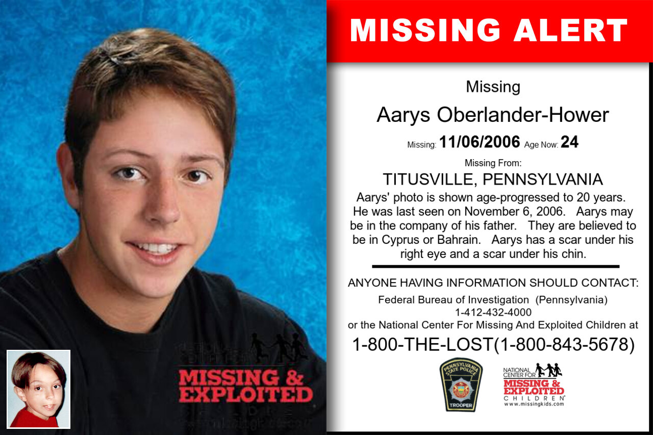 Aarys_Oberlander-Hower missing in Pennsylvania