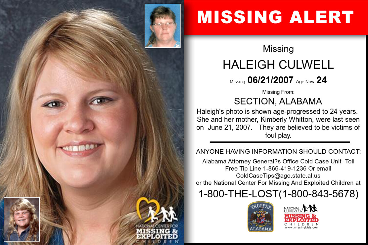 HALEIGH_CULWELL missing in Alabama