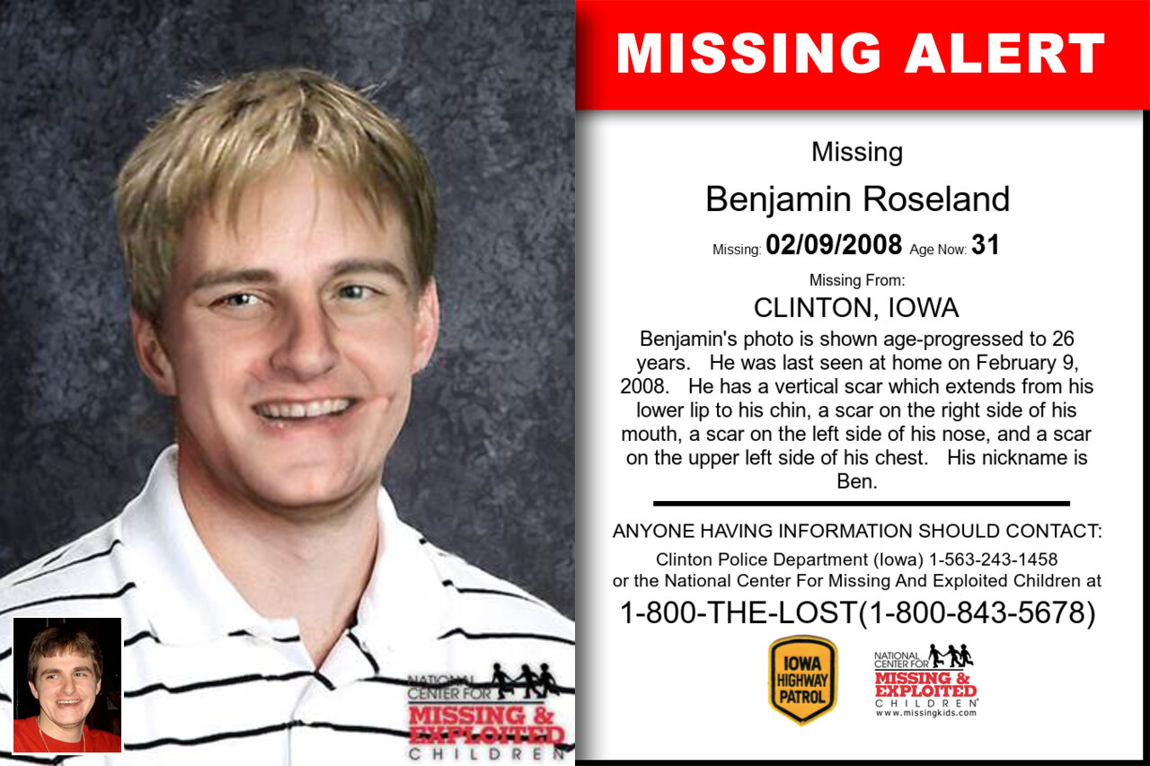 Benjamin_Roseland missing in Iowa