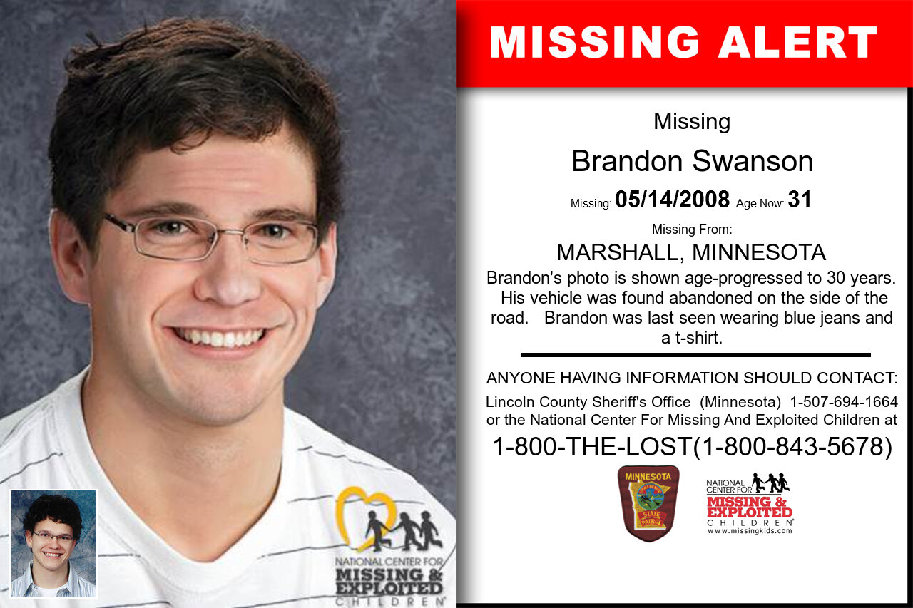 Brandon_Swanson missing in Minnesota