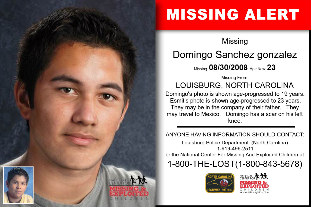 Domingo_Sanchez_gonzalez missing in North_Carolina