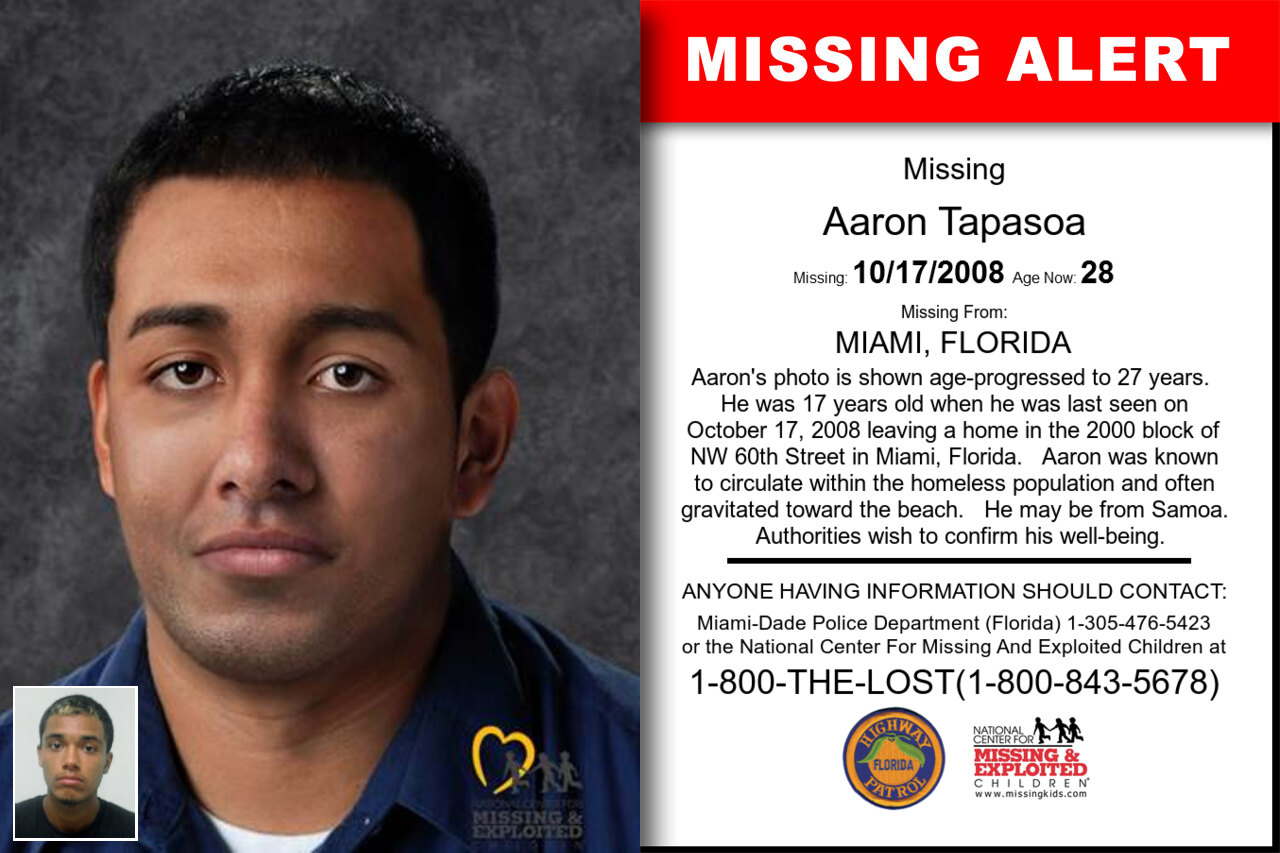 Aaron_Tapasoa missing in Florida