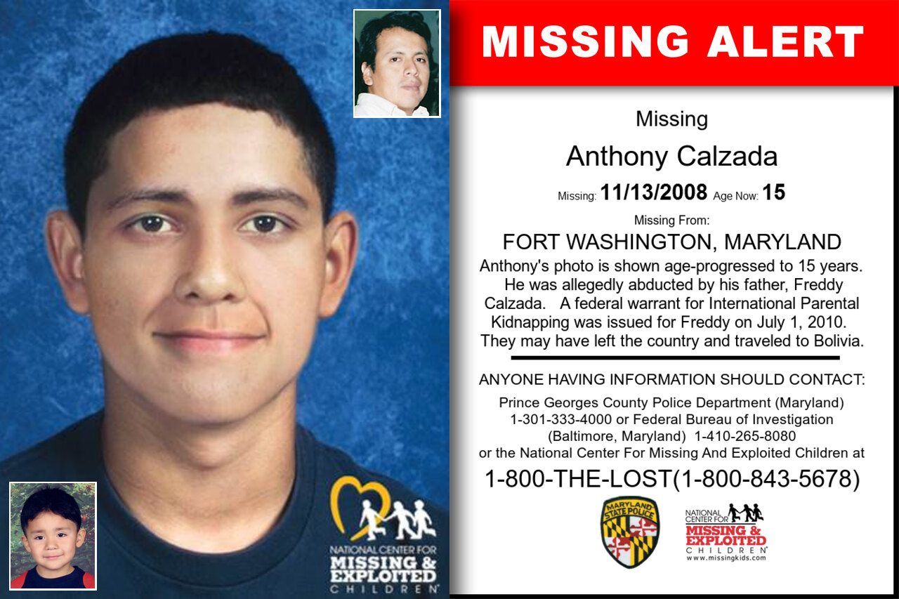 Anthony_Calzada missing in Maryland