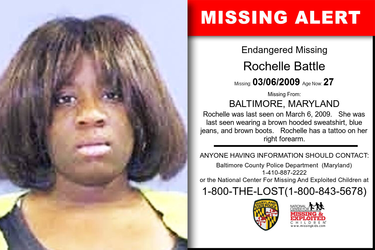 Rochelle_Battle missing in Maryland