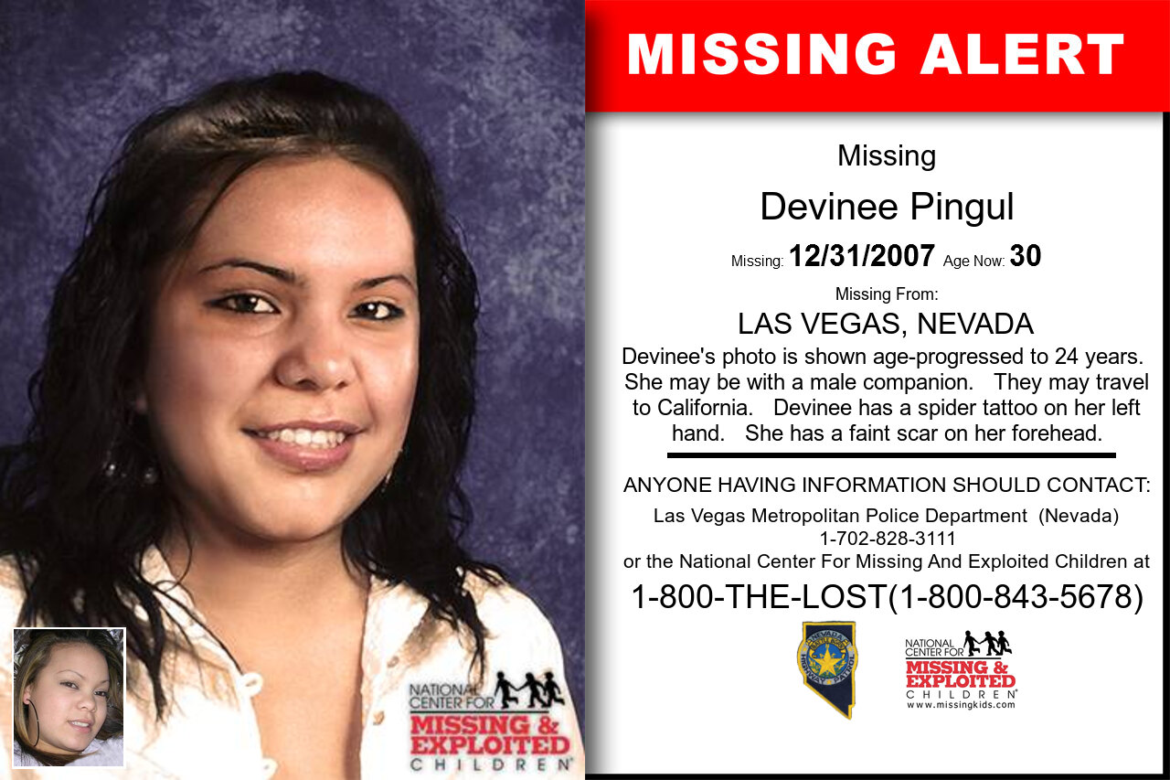 Devinee_Pingul missing in Nevada