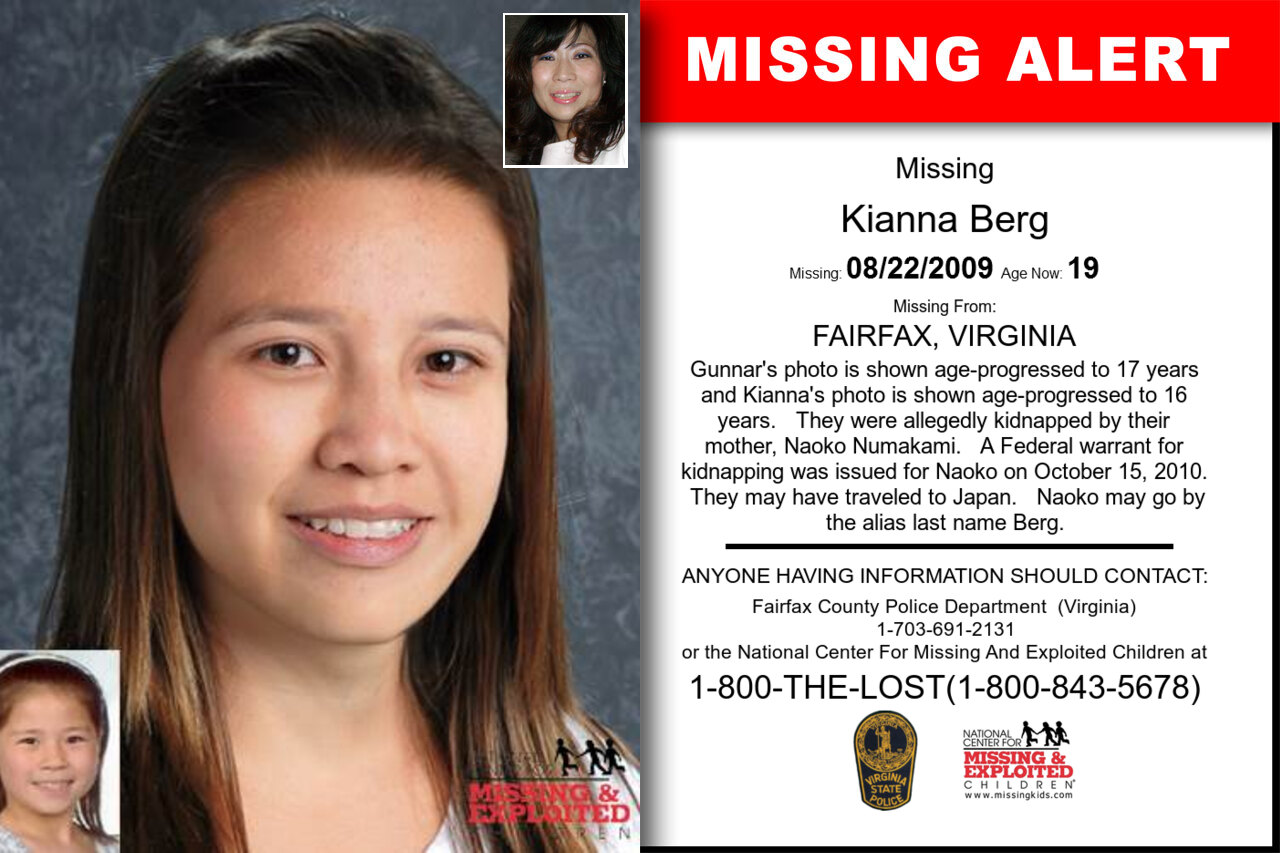 Kianna_Berg missing in Virginia