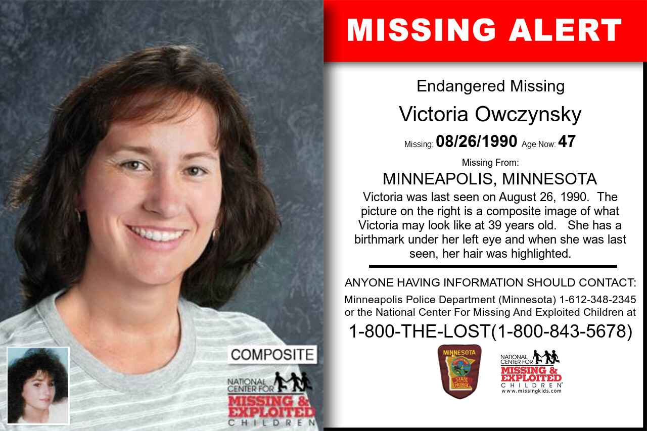 Victoria_Owczynsky missing in Minnesota