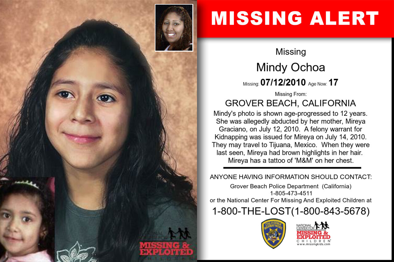 Mindy_Ochoa missing in California