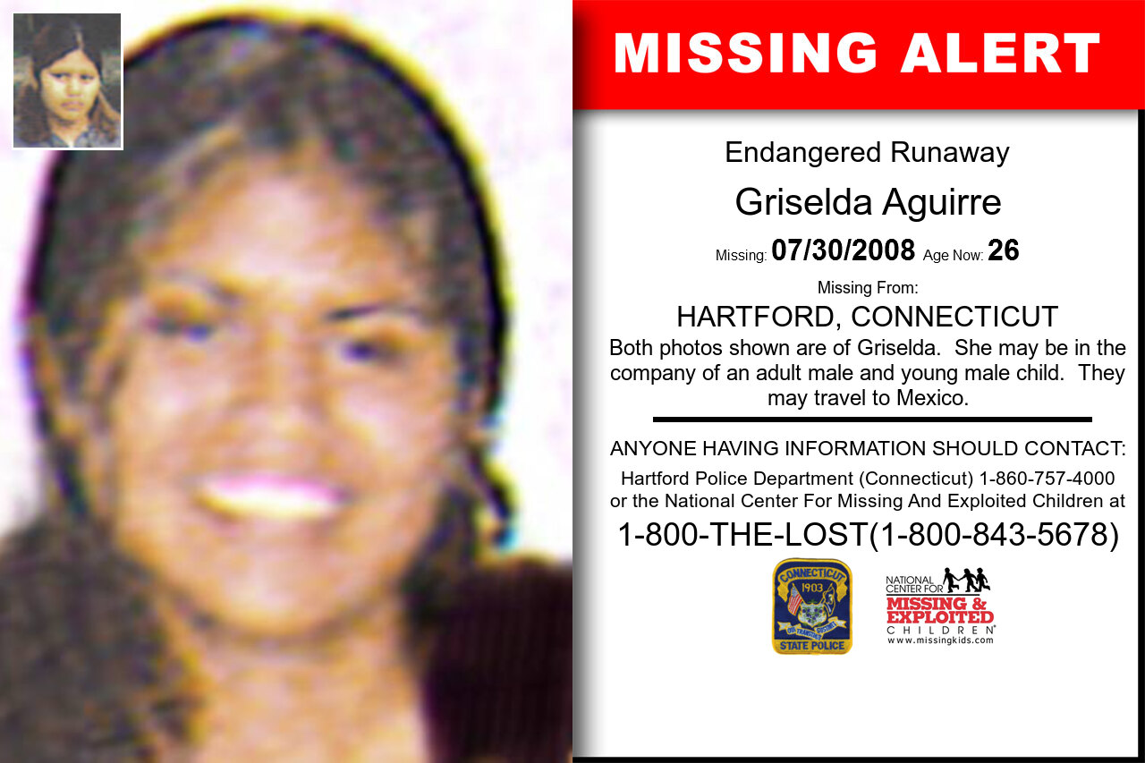 Griselda_Aguirre missing in Connecticut