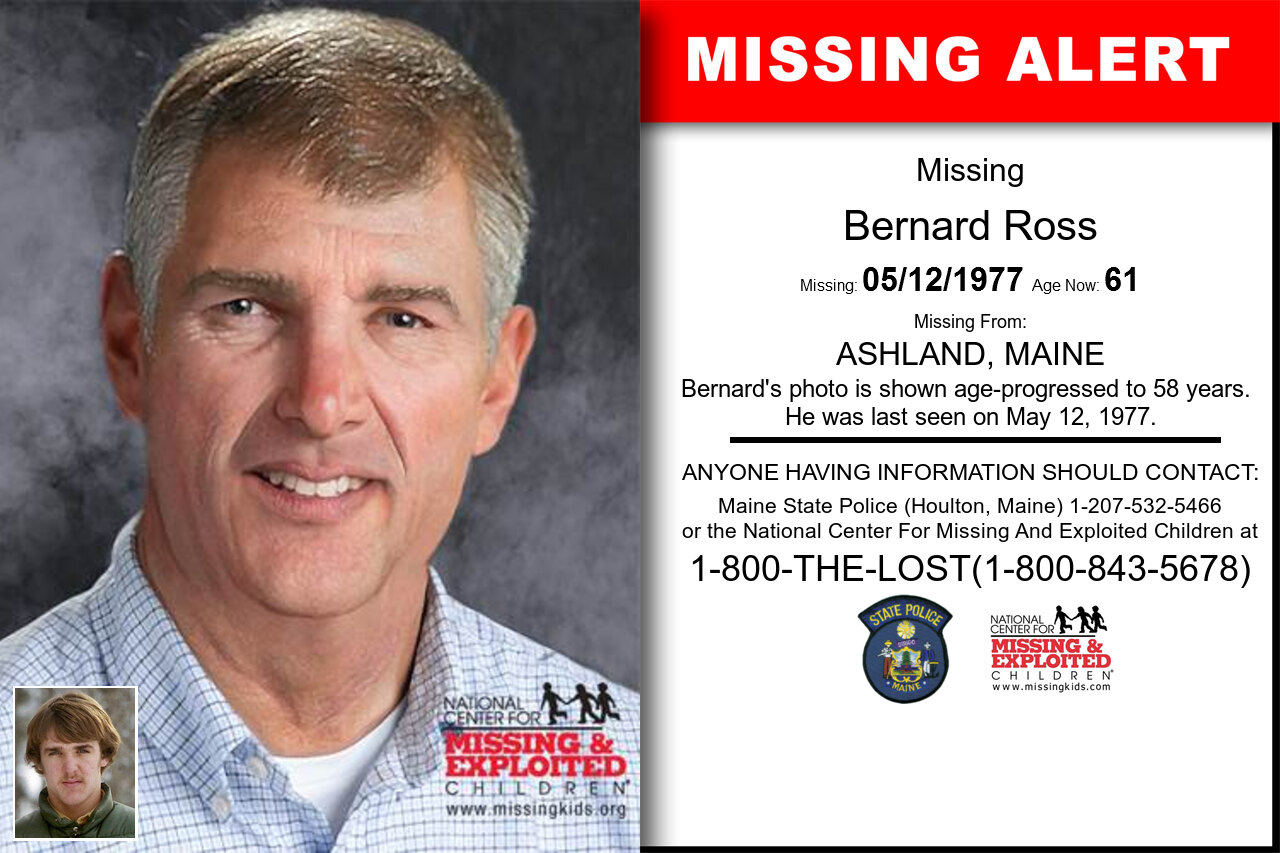 Bernard_Ross missing in Maine