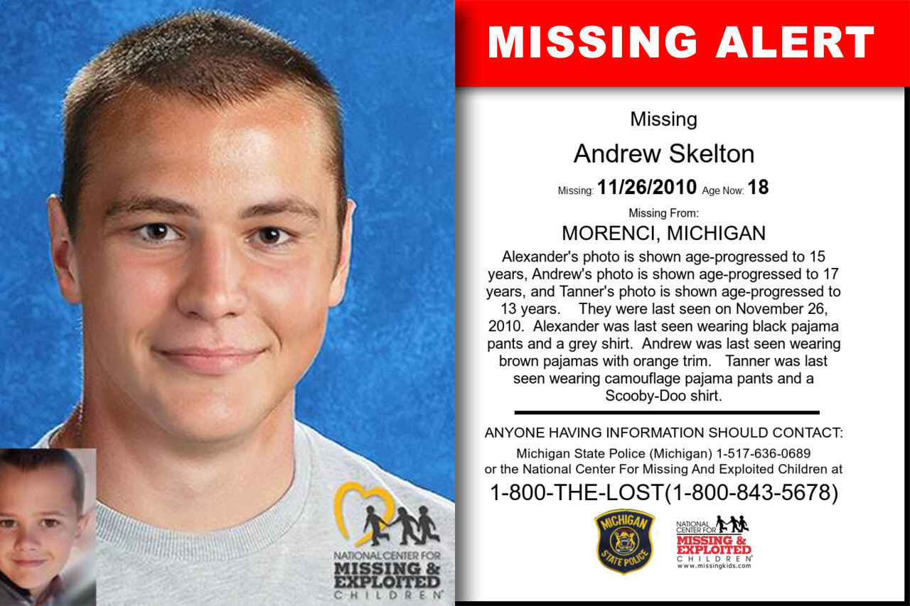 Andrew_Skelton missing in Michigan