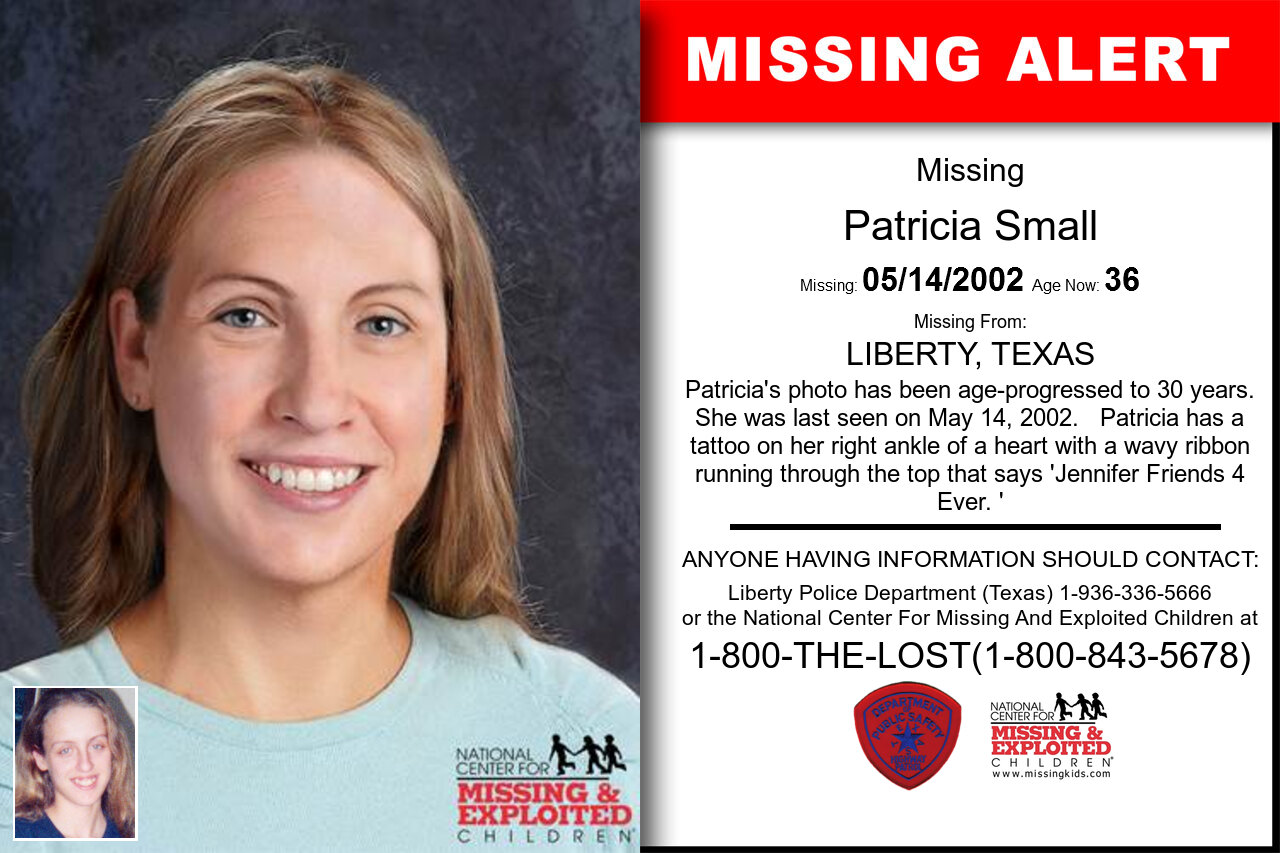 Patricia_Small missing in Texas