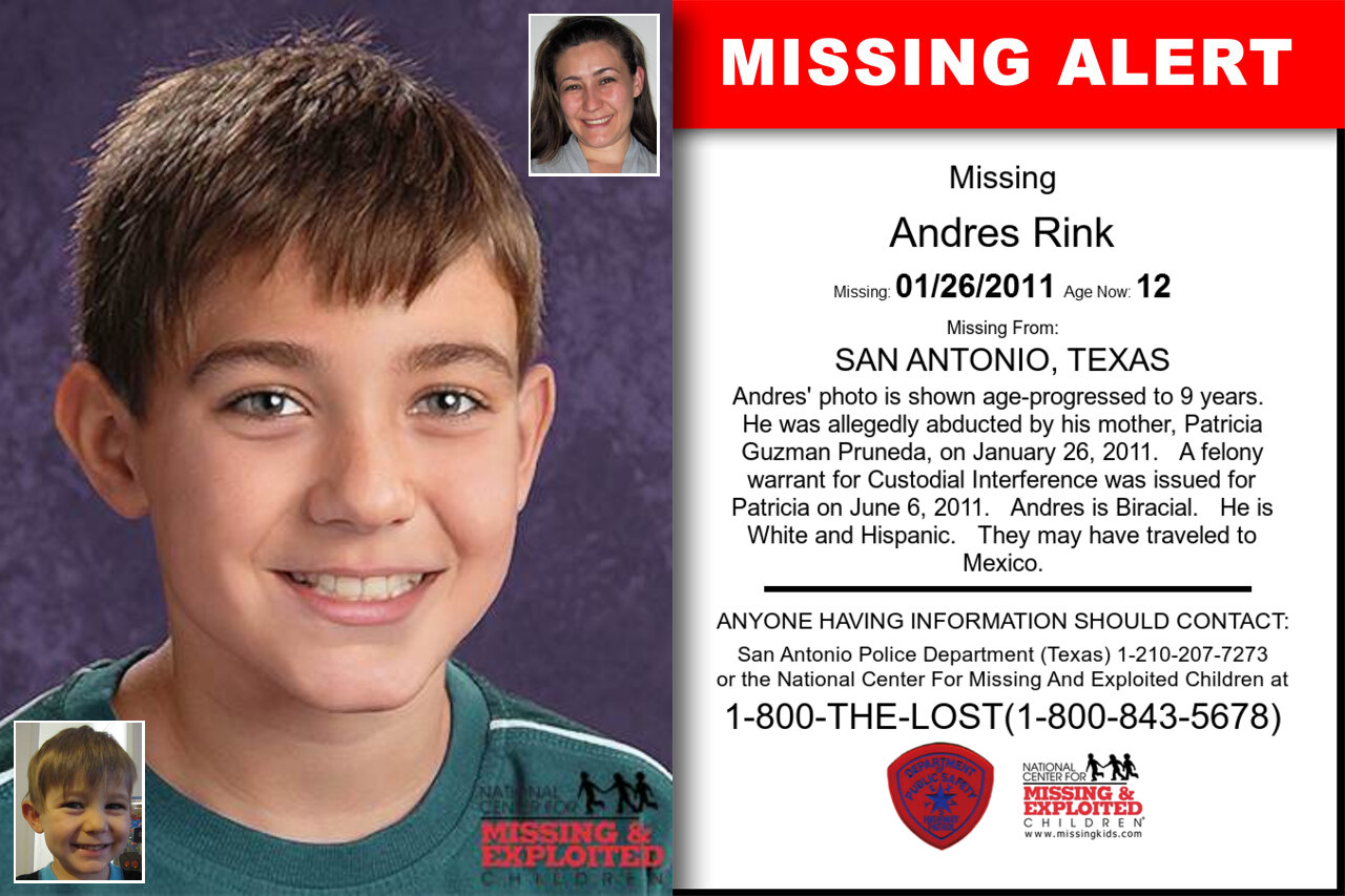Andres_Rink missing in Texas