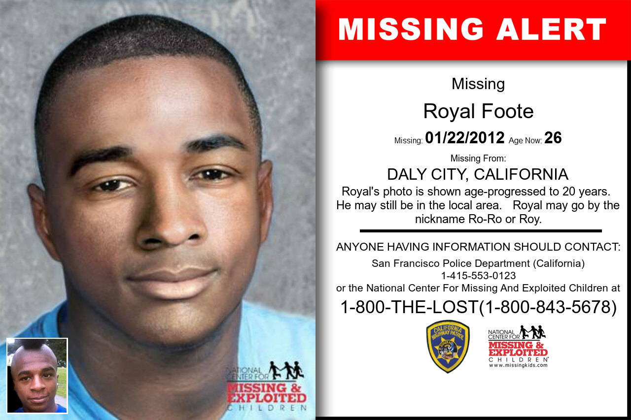 Royal_Foote missing in California