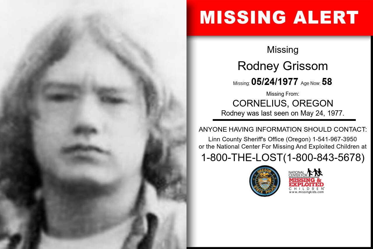 Rodney_Grissom missing in Oregon