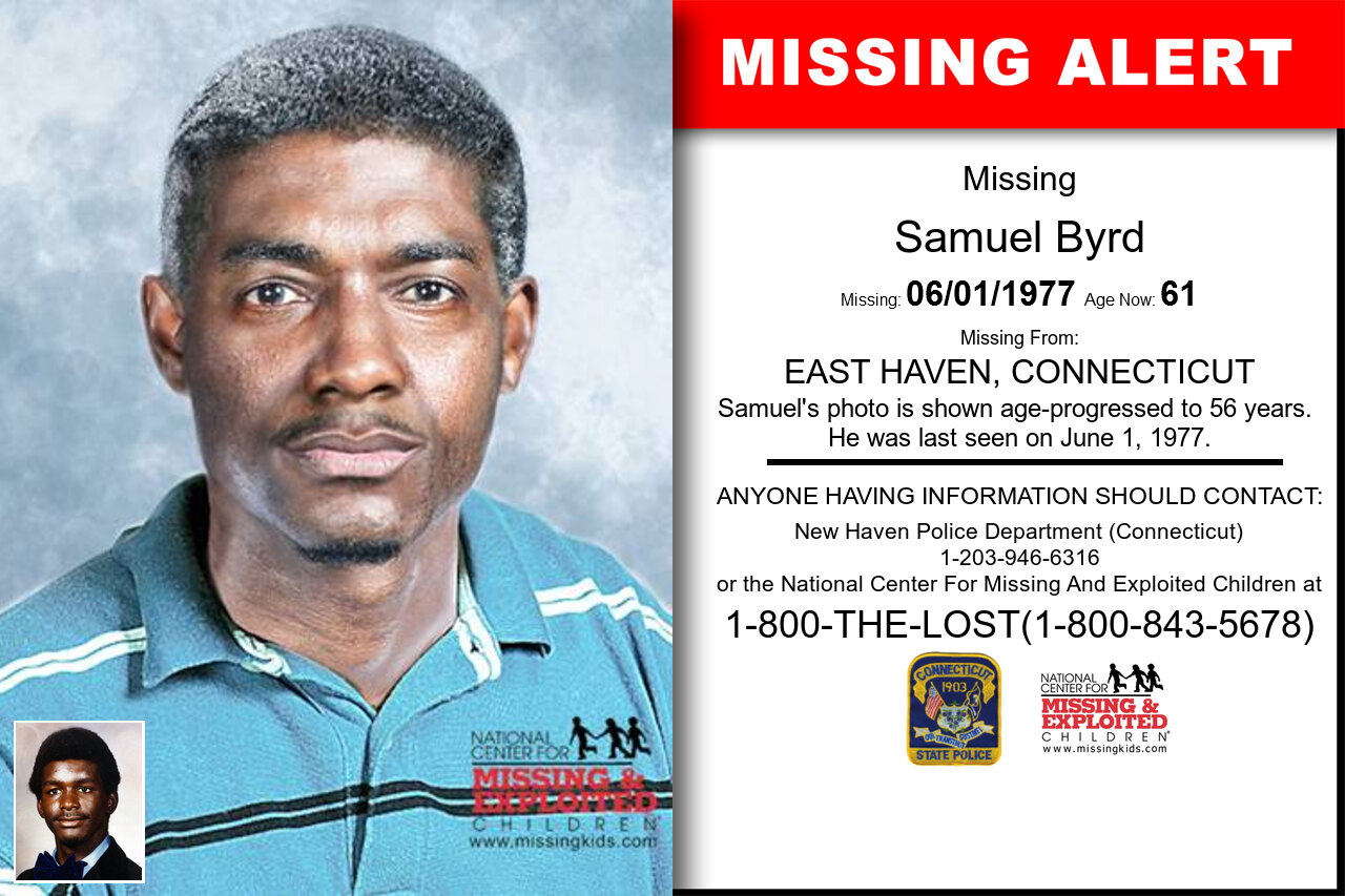 Samuel_Byrd missing in Connecticut