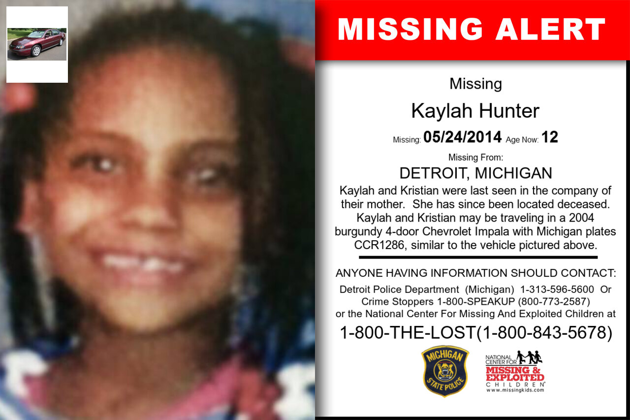 Kaylah_Hunter missing in Michigan